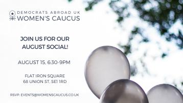 DAUK Women's Caucus August Social Banner